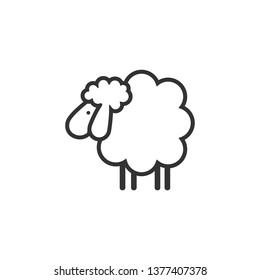 Sheep icon. Animal head. Silhouette icon sheep. Farm sign. Graph symbol for your web site design, logo, app, UI. Ewes