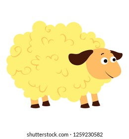 Sheep icon. Cartoon of sheep vector icon for web design isolated on white background