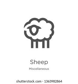 sheep icon. Element of miscellaneous collection for mobile concept and web apps icon. Outline, thin line sheep icon for website design and mobile, app development