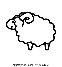 Sheep icon isolated vector illustration. High quality black style vector icon