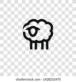 sheep icon from miscellaneous collection for mobile concept and web apps icon. Transparent outline, thin line sheep icon for website design and mobile, app development