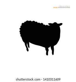 Sheep icon on white background.vector illustration.