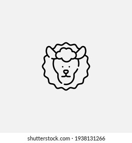 Sheep icon sign vector,Symbol, logo illustration for web and mobile