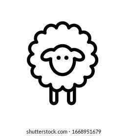 Sheep icon,vector illustration. Flat design style. vector sheep icon illustration isolated on White background, sheep icon Eps10. sheep icons graphic design vector symbols.