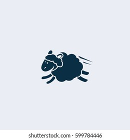 Sheep jumping icon,Sleep and rest symbol stock vector illustration.