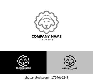 Sheep logo, Lamb vector design