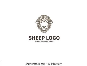 Sheep logo template