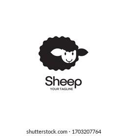sheep logo vector illustration design