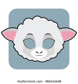 Imágenes, fotos de stock y vectores sobre Farm Animals Mask