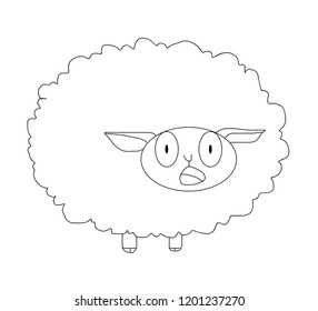 The sheep vector with amazing face