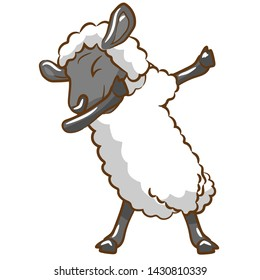 Sheep vector graphic design clipart