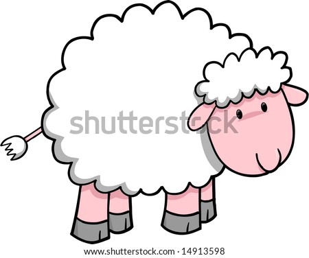 sheep vector illustration stock vector royalty free 14913598 rh shutterstock com ship vector sheep vector art