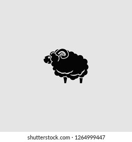 sheep vector isolated icon