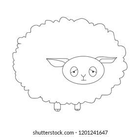 The sheep vector sleepy