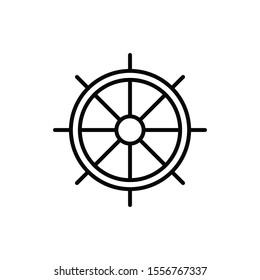 Sheep wheel outline vector icon