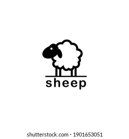 the sheep's flat icon logo is black