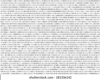 Sheet of binary codes listing vector background texture