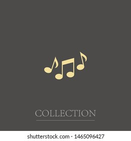 Sheet music Icon in trendy flat style isolated on grey background. Note symbol for your web site design, app, UI. Vector illustration