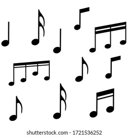 Sheet music Icon in trendy flat style isolated on background. Note symbol for your web site design, app, UI. Vector illustration