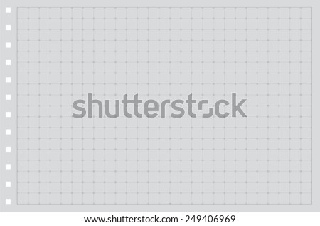 sheet paper grid notebook graph style stock vector royalty free