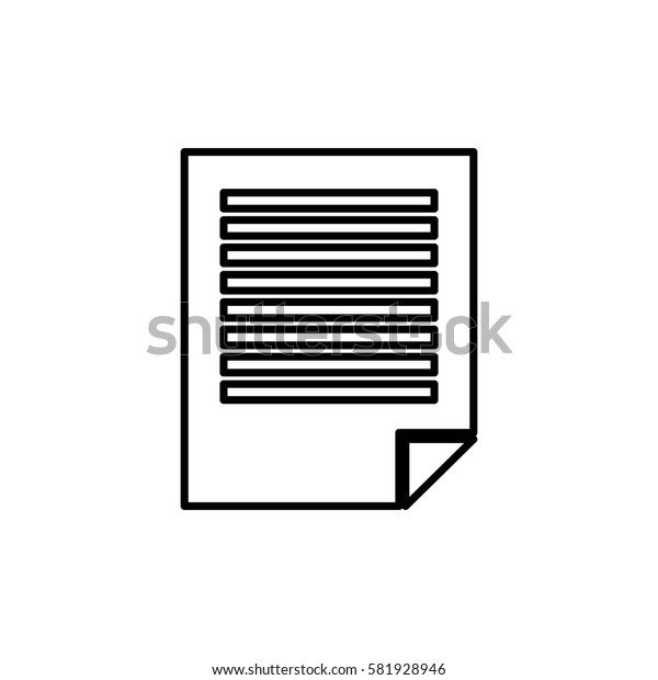Sheet paper note icon vector illustration graphic design
