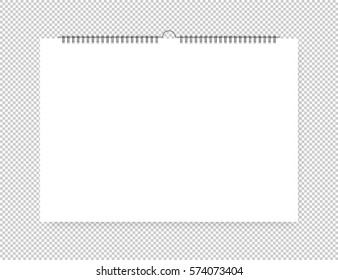 Sheet of paper with spiral on a isolated background
