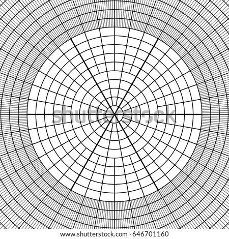 Sheet Polar Graph Paper Shows Wear Stock Vector (Royalty Free ...