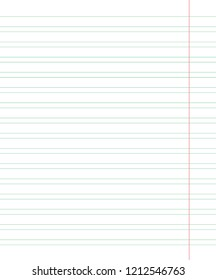 College Ruled Paper Stock Vectors, Images & Vector Art