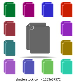 sheets icon elements of university life in multi color style icons simple icon for