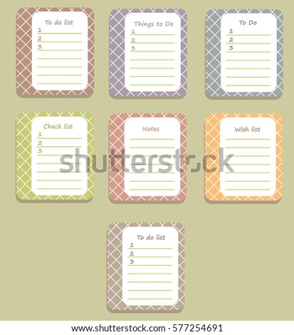 sheets planner pretty box diary do stock vector royalty free