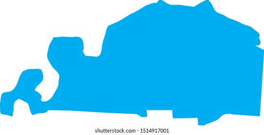 shelby County map in Tennessee state