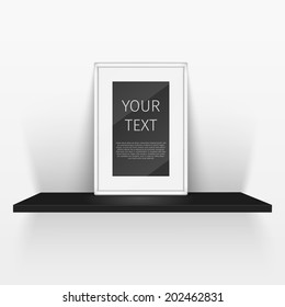 shelf and blank poster