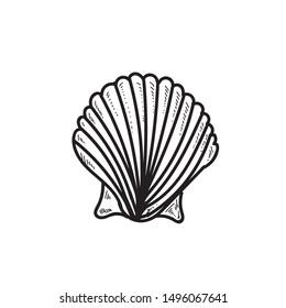 Shell icon hand drawn icon design
