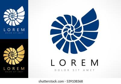 Shell Logo. Mollusk vector.