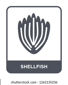 shellfish icon vector on white background, shellfish trendy filled icons from Stone age collection, shellfish simple element illustration