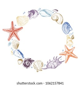 Shells & stones is a set of illustrations drawn by ink and pen. For your design, posters, postcards, invitations, menus, weddings and more.