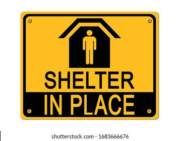 Shelter in place stop coronavirus covid-19 Campaign sign 2019-nCov vector design