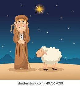 Shepherd cartoon design