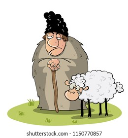 Shepperd with his sheep