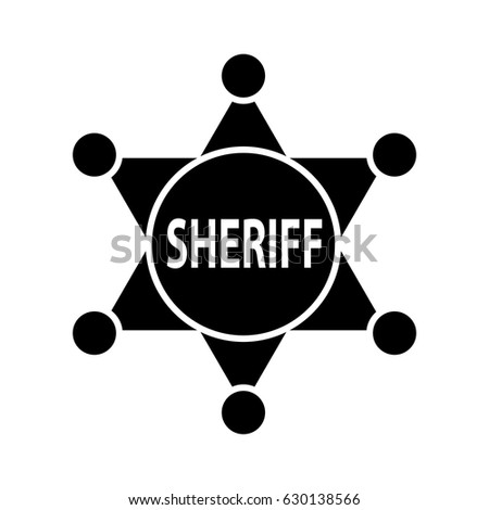 sheriff badge icon stock vector royalty free 630138566 shutterstock