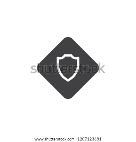Sheriff Badge Vector Icon Filled Flat Stock Vector Royalty Free