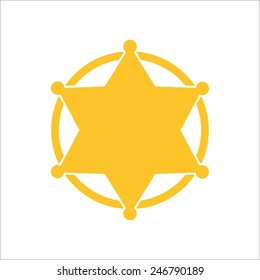 Sheriff badge, vector illustrator