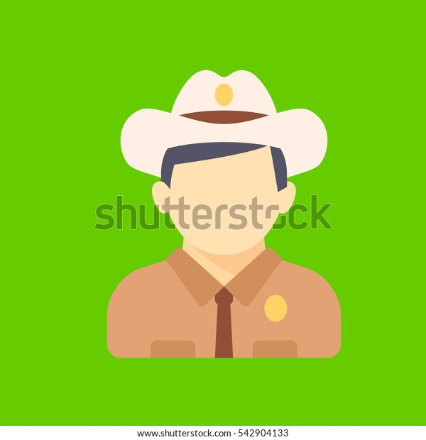 sheriff icon flat disign