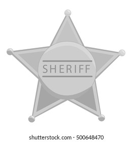 Sheriff icon monochrome. Singe western icon from the wild west monochrome.