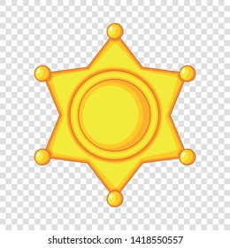 Sheriff star icon. Cartoon illustration of sheriff star vector icon for web