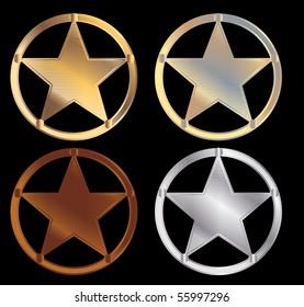 Sheriff stars - vector