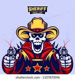 Sheriff's Skull Esport Logo Design