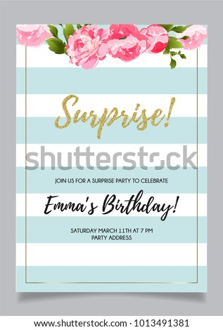 shh surprise party invitation card vector stock vector royalty free