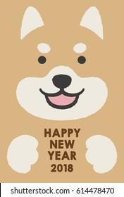 Shiba inu , 2018 new year card
