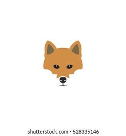 Shiba inu dog head. Vector illustration.